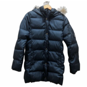 Gap xxl blue faux fur hooded puffer jacket 13 yo